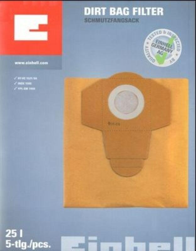 Einhell 25 literes 5db/csomag porzsák