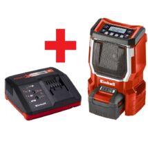 Einhell TE-CR 18 Li akkus rádió + Power X-Change Starter Kit