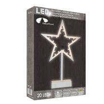 Beltéri elemes LED csillag ablakdísz 20 Égő / 0.39 m – meleg fehér