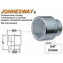 """Jonnesway Profi Dugókulcsfej 3/4"""" 21mm"""
