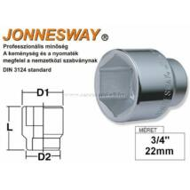 """Jonnesway Profi Dugókulcsfej 3/4"""" 22mm"""