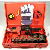 Csőhegesztőgép műanyag csőhöz 2660W / 16-63mm / 13db-os készlet (kompletten)