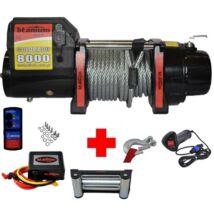 Elektromos csörlő 3600kg 12V-os (kompletten)