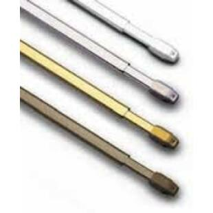 Gardinia vitrage rúd 100-180cm (fehér)