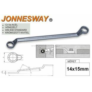 Jonnesway Profi Csillagkulcs 14x15mm
