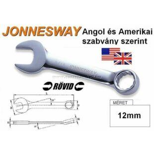 Jonnesway Profi Rövid Csillag-Villáskulcs 12mm