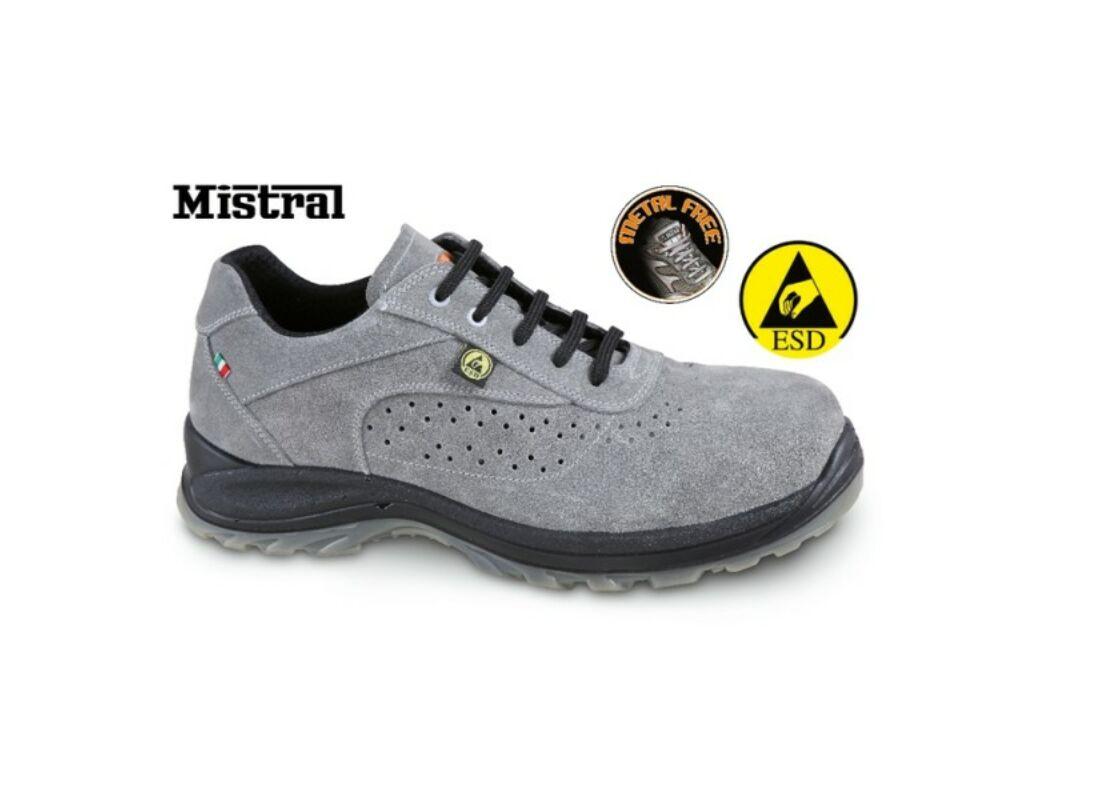 Beta 7319ESD 42 Perforált hasítottbőr munkavédelmi cipő 51d24453bd