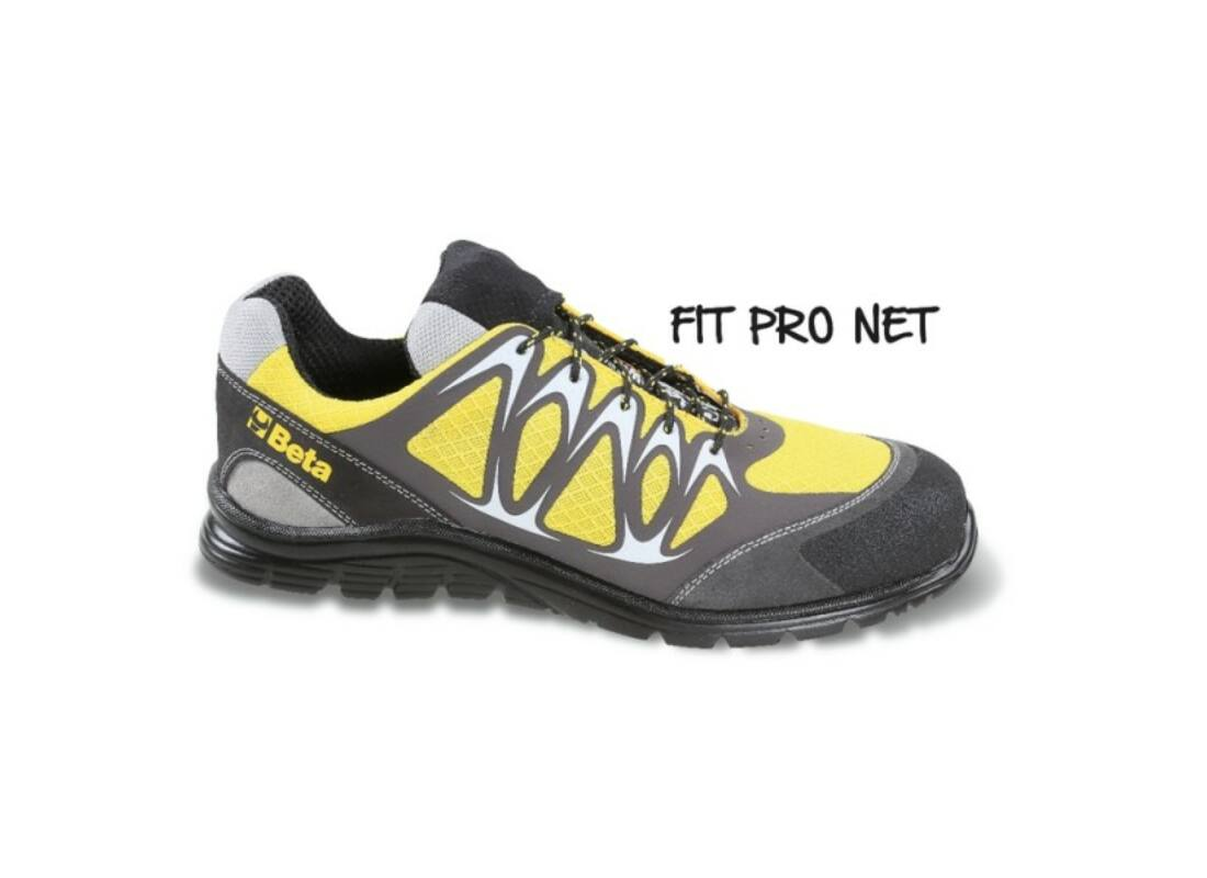 Beta 7340Y 36 jól szellőző mesh szövet munkavédelmi cipő nagyfrekvenciás PU  betétekkel és védő erősítéssel a hasítottbőr orrnál b15fa930f3