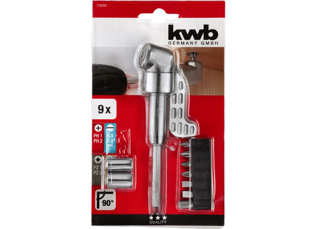 KWB PROFI 90° mágneses bit-behajtó adapter készlet 9 db 2382db386c