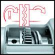 Einhell RT-RH 32  fúró- vésőkalapács, SDS-Plus, 1250W, 3.5J +ajándék fúrókészlet