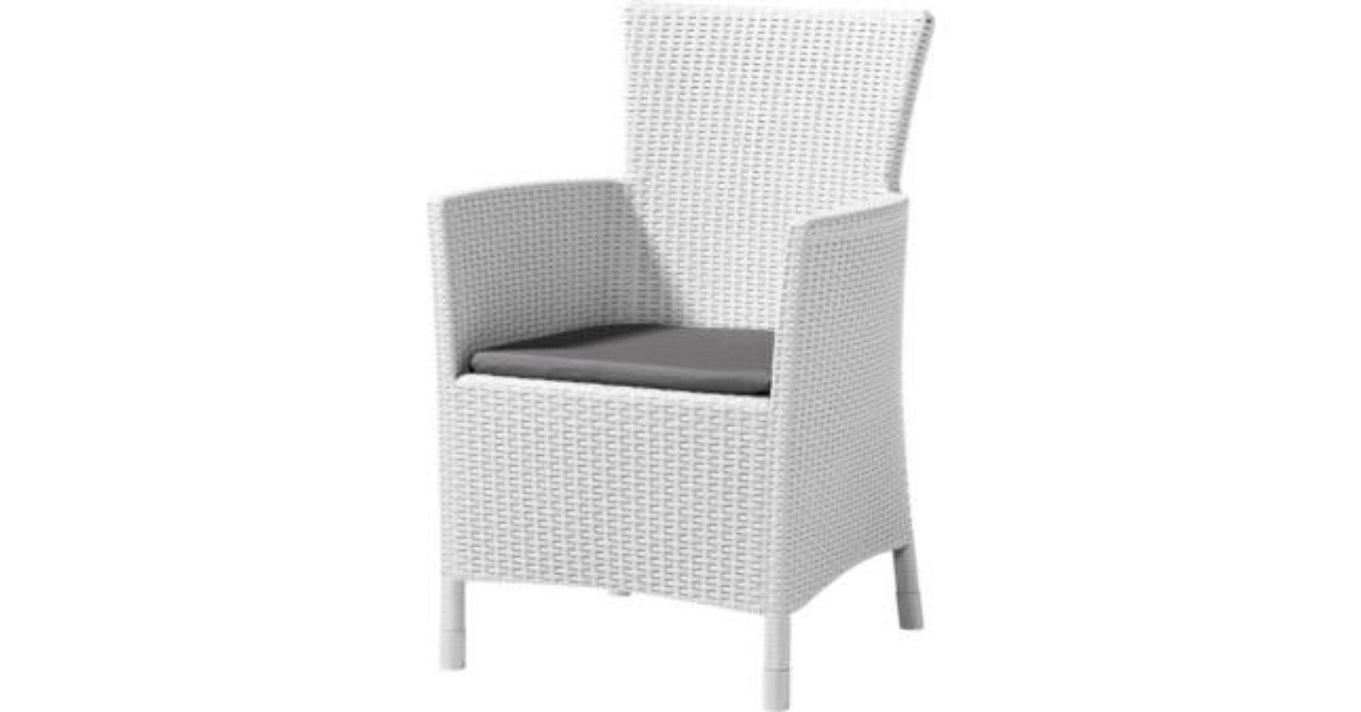 Allibert Iowa műrattan kerti fotel, fehér