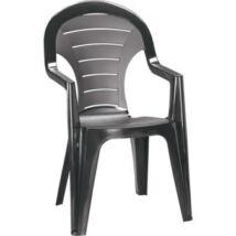 Allibert Bonaire kartámaszos műanyag kerti szék, grafit