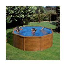 Pontaqua Wood fémfalas családi medence, 3.50x1.20m