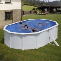 Fémfalas családi medence - GRE WHITE 5,00 x 3,00 x 1,20 ovál medence szkimmerrel, befúvóval