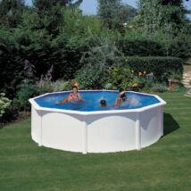 Fémfalas családi medence - GRE WHITE D 4,60 x 1,20 m medence