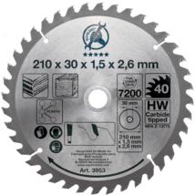 BGS-3953 Keményfém körfűrészlap (210x30x2,6mm) 40 fogú