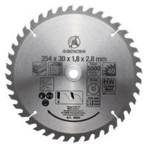 BGS-3954 Keményfém körfűrészlap (254x30x3,2mm) 40 fogú