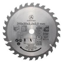 BGS-3957 Keményfém körfűrészlap (315x30x3,0mm) 30 fogú
