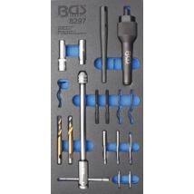 BGS-8297 Izzítógyertya kiszedő és menetjavító készlet