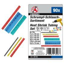 BGS-88150 Zsugorcső készlet 90 részes, színes