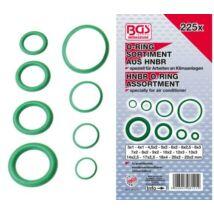 BGS-8121 O-gyűrű készlet HNBR légkondicionálókhoz 225 részes 3-22 mm