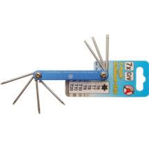 BGS-7848 Összecsukható kulcs (Torx) T6-T20, 7db