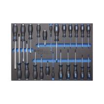 BGS-4014 Szerszámok tálcán szervízkocsihoz csavarhúzó készlet stb