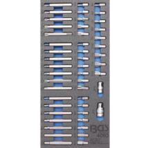 BGS-4093 Műhelykocsi-betét, kombinált behajtófej-készlet 49 darabos