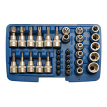 BGS-5021 Csavarfej és dugókulcs készlet 34-részes CV.
