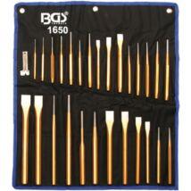 BGS-1650 Véső, kiütő, pontozó készlet 28 részes