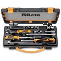 """Beta 900AS/MB-C17 17 részes 1/4"""" dugókulcs készlet fémdobozban"""
