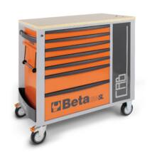 Beta C24SL-CAB hétfiókos szerszámoskocsi és tárolószekrény