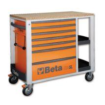 Beta C24SL hétfiókos szerszámkocsi állítható oldalrekeszekkel