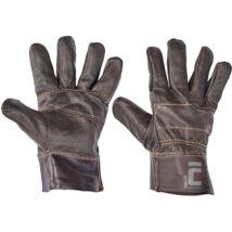 Cerva Francolin munkavédelmi bőrkesztyű, fekete, 10