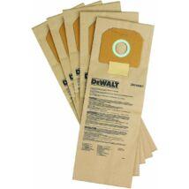 DeWalt DWV9401 papír porzsák, D27902-es porszívóhoz, 5db