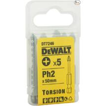 DeWalt DT7246 torziós csavarozóbetét, PH2, 50mm
