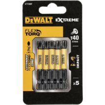 DeWalt DT7399T Extreme Impact torziós csavarbitek, T40, 50mm