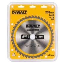 DeWalt DT1955 ipari fűrészlap, 40 fog, 235mm