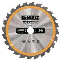 DeWalt DT1956 fűrészlap, 24 fog, 250mm