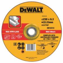 DeWalt DT43919 köszörűkorong fémhez, 230x6.3mm