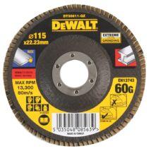 DeWalt DT30611 Extreme lamellás csiszolótárcsa, 115mm, 60G