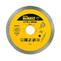 DeWalt DT3715 vizes-száraz gyémánt vágótárcsa, 110mm