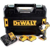 """DeWalt DCF801D2 XR akkus ütvecsavarozó, 12V, 1/4"""", 163Nm (2db 2Ah akkuval és töltővel)"""