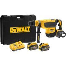 DeWalt DCH733X2 XR akkus fúrókalapács, SDS-Max, 54V, 13.3J (2db 9.0Ah akkuval és töltővel)
