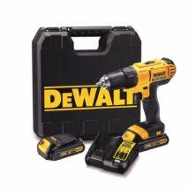 DeWalt DCD771S2 XR akkus fúró- csavarozó, 18V, 1.5-13mm, 42Nm (2db 1.5Ah akkuval és töltővel)