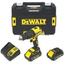 DeWalt DCD778L2T XR akkus fúró-csavarozó, 18V, 1.5-13mm, 65Nm (2db 3.0Ah akkuval és töltővel)