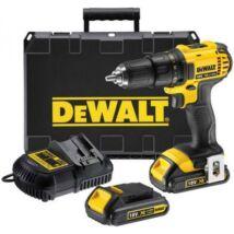 DeWalt DCD771C2 XR akkus fúró-csavarozó, 18V, 1.5-13mm, 42Nm (2db 1,3Ah akkuval és töltővel)