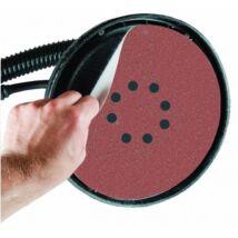 Dedra csiszolókorong falcsiszolókhoz, tépőzáras, 8 lyukas, 225mm, A80, 5db