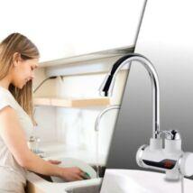 LCD kijelzős átfolyós vízmelegítő 3kW teljesítménnyel