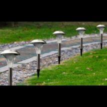 Solar kerti napelemes fém lámpa